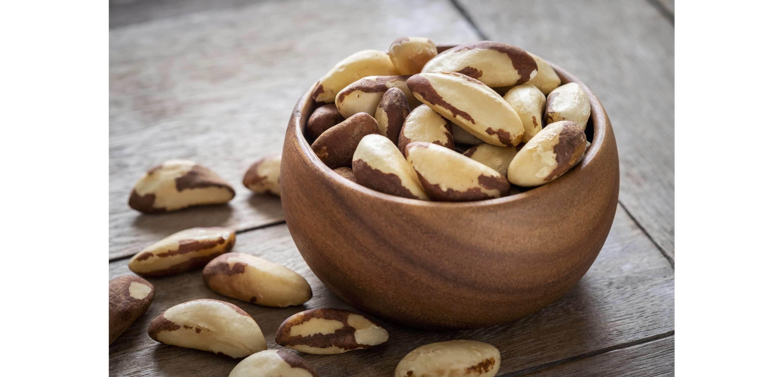 brazil nuts in bowl
