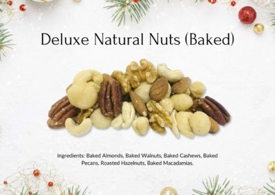 Christmas Deluxe Natural Nuts (Baked)