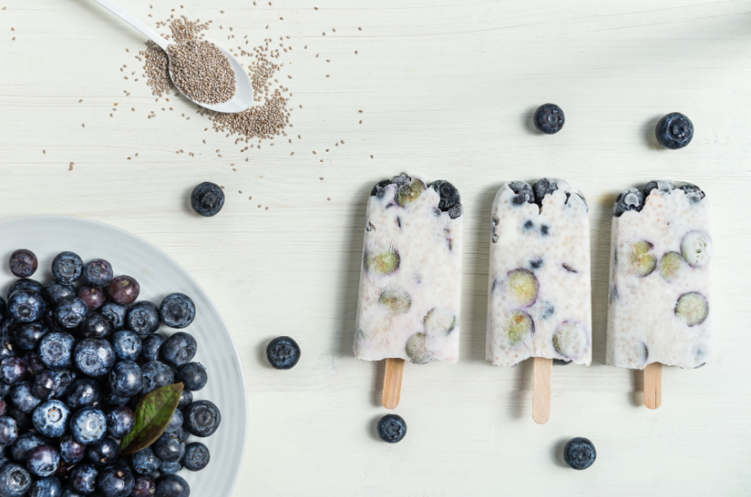 chia seed popsicle
