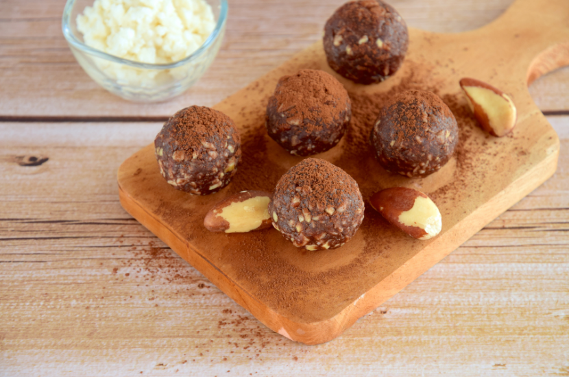 Brazil nut chocolate balls