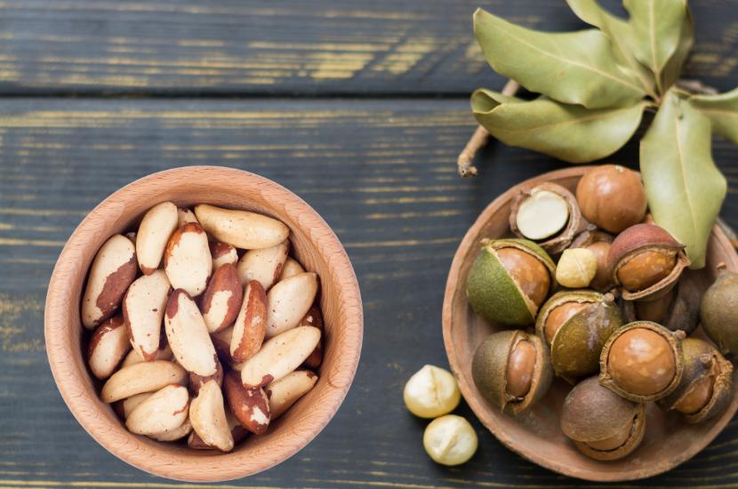 macadamia nuts vs Brazil nuts: Health benefits and Uses