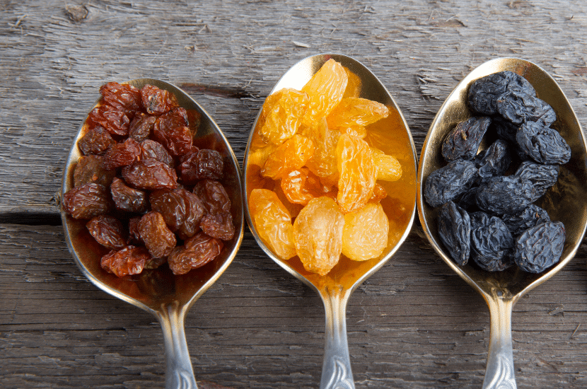 The Difference Between Raisins, Sultanas and Currants