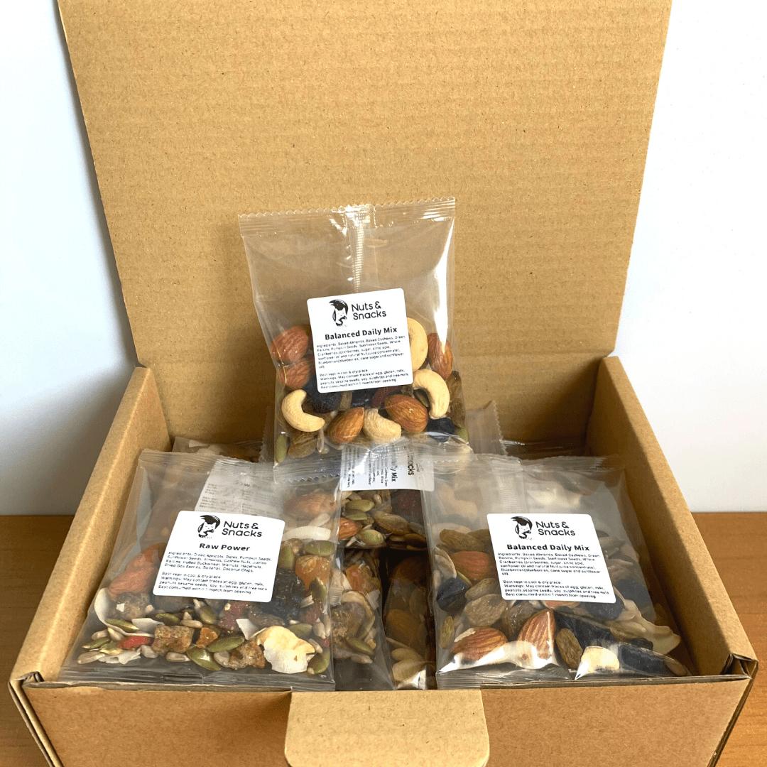 Single Serve nuts and snacks box