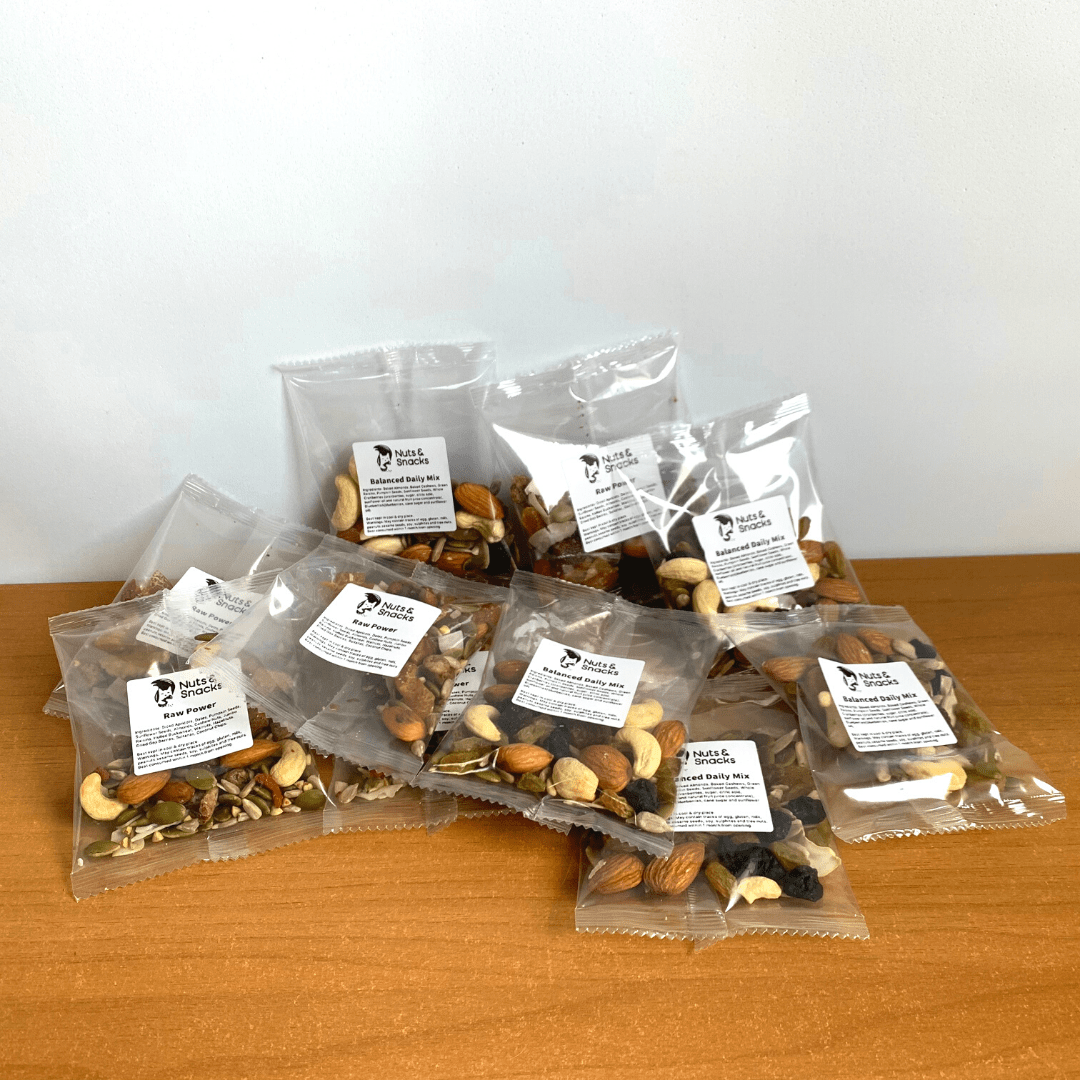 single serve collection nuts and snacks