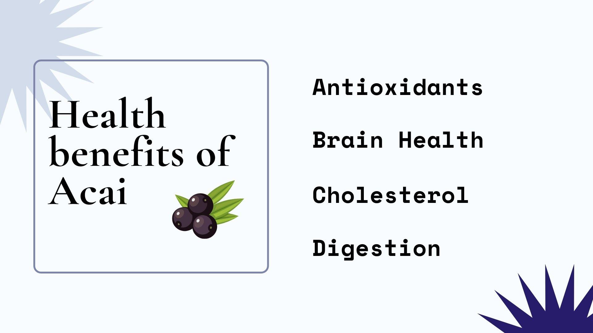 health benefit acai