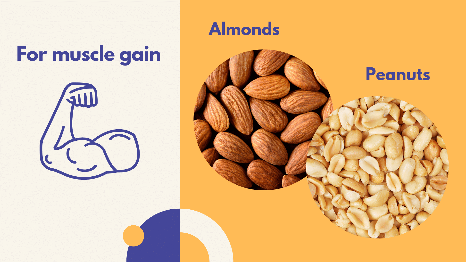 best nuts for muscle gain almonds peanuts