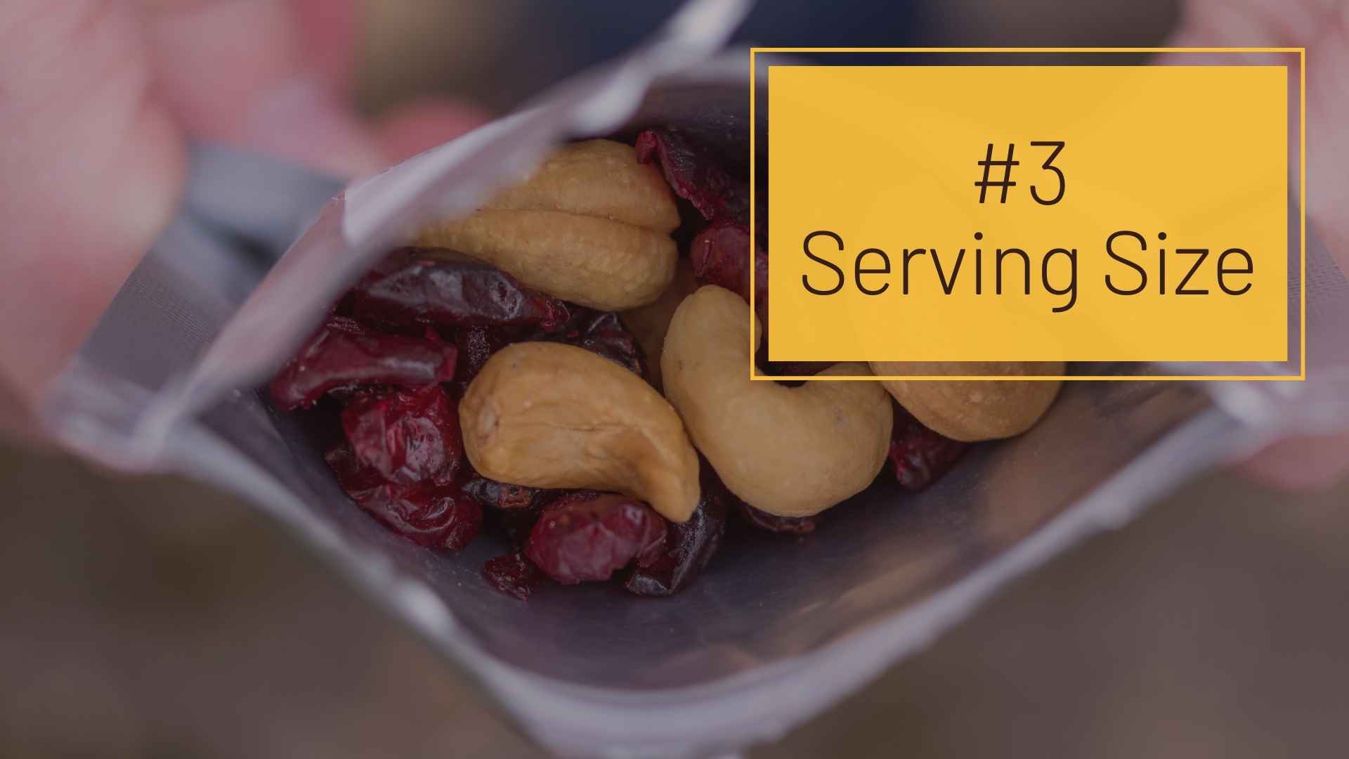 #3 Serving Size