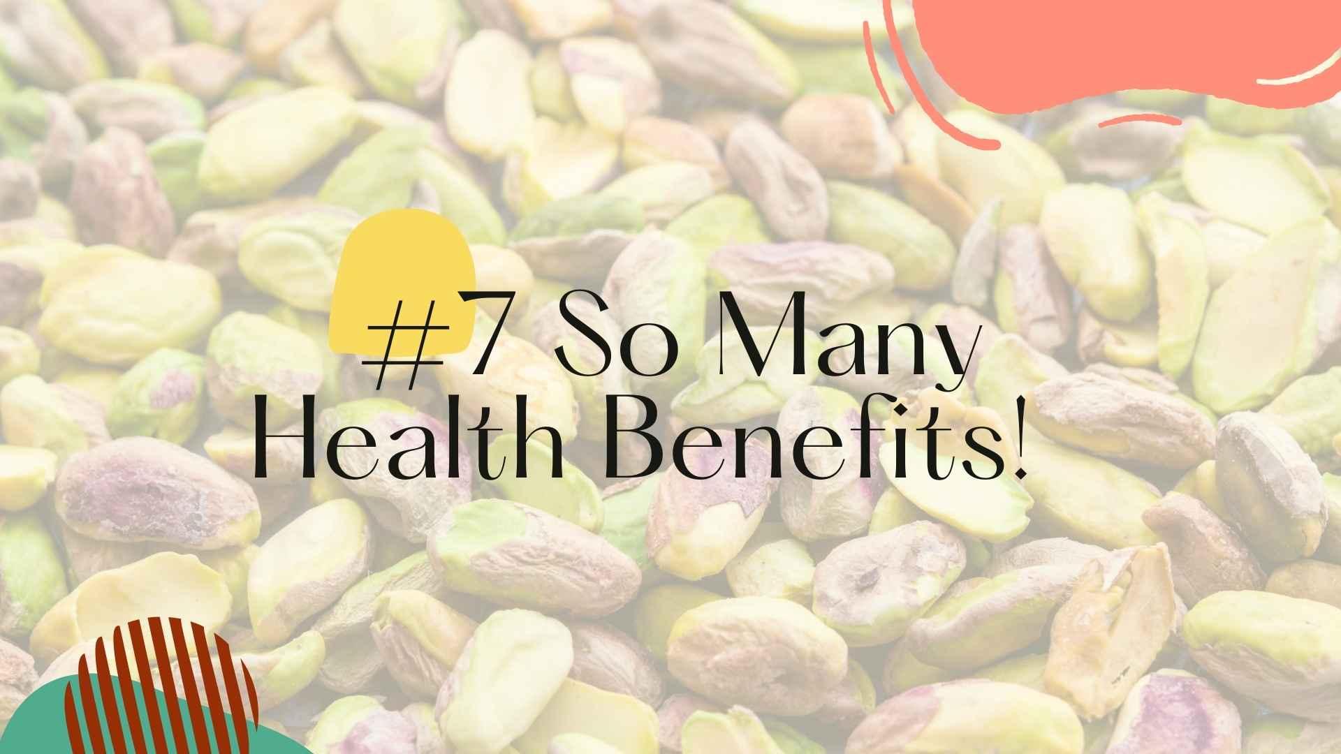 health benefits pistachios
